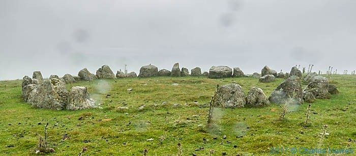 Moel Ty Uchaf stone circle, photographed by Charles Hawes