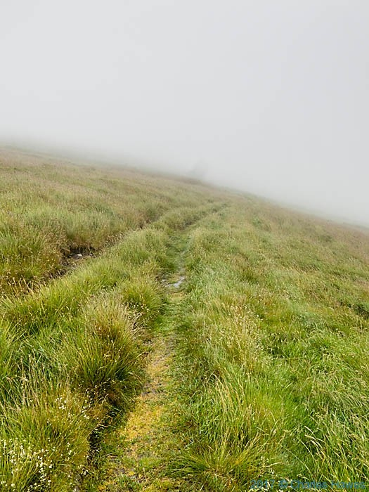 Path to Cadair Bronwen from Llandrillo, photographed by Charles Hawes