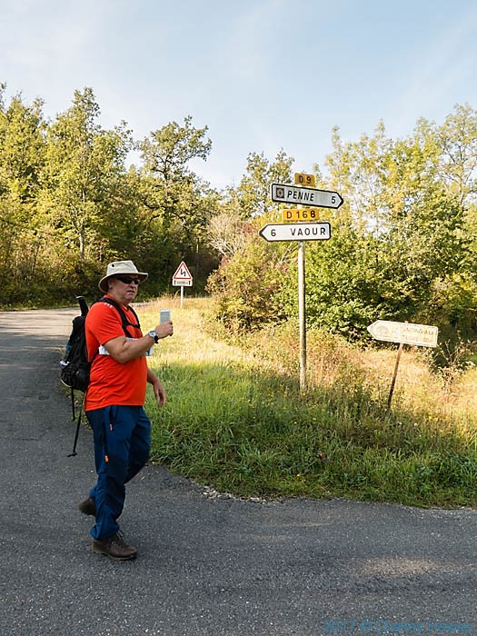 Crossing the D9 near Belaygue, France, photographed by Charles Hawes