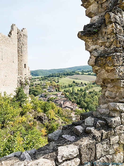 View from the castle at Penne, France, photographed by Charles Hawes
