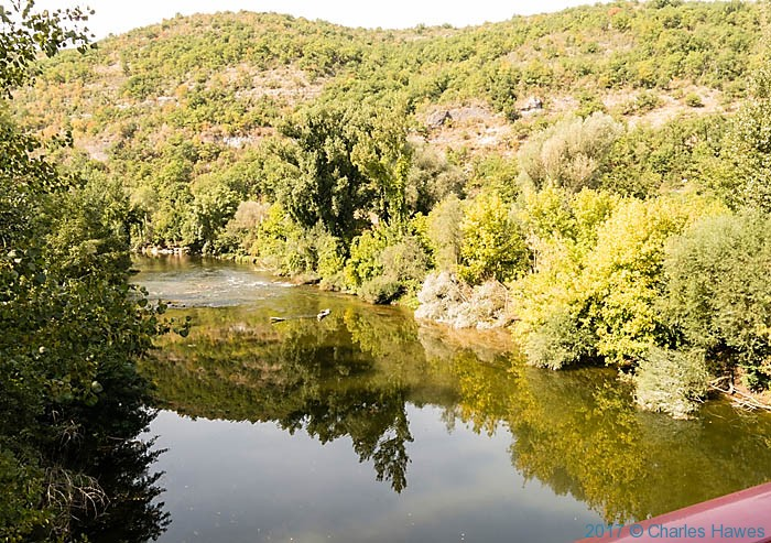 The River Aveyron below Penne, France, photographed by Charles Hawes