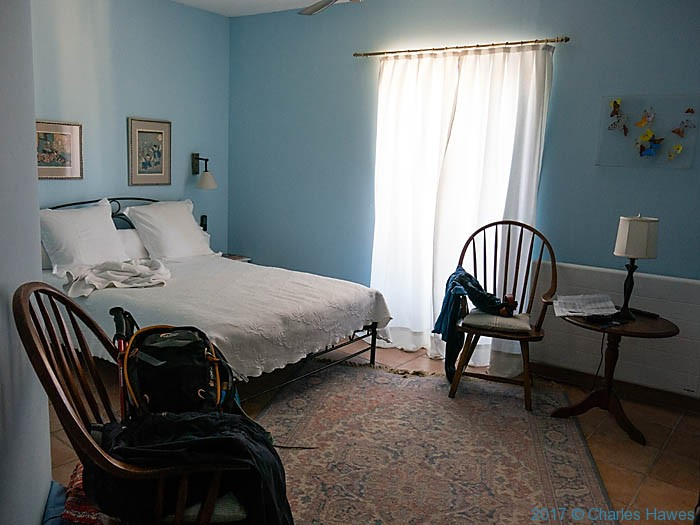 Bedroom at L.Ancienne Auberge, Puycelci, photographed by Charles Hawes