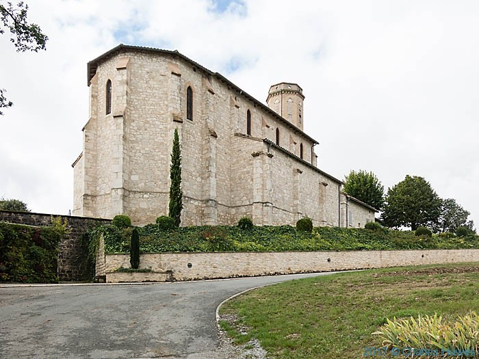 Church in Andillac, France, photographed by Charles Hawes