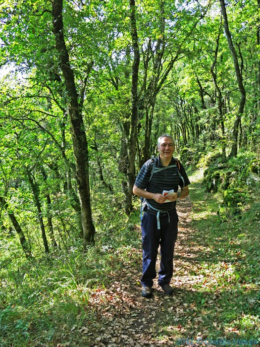Charles Hawes on path above the Coste du Fabre, France