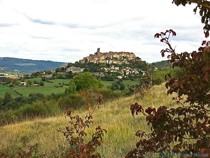 View of Cordes from the GR46, photographed by Charles Hawes