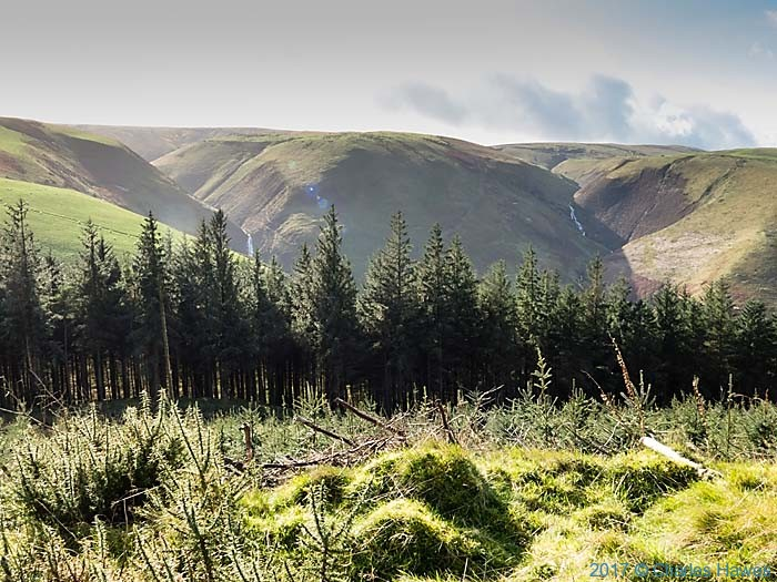 View from Banc Rhoswydol, photographed from The Cambrian Way, Wales, by Charles Hawes