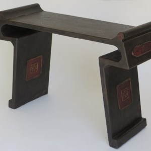 Black and Red Crackle Lacquer Altar Table
