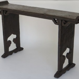 Brown Crackle Lacquer Altar Table