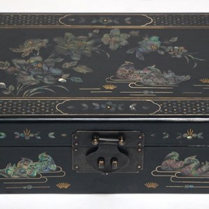 Black Lacquer and Mother of Pearl Box