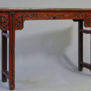 Red Lacquer Altar Table, Suzhou Province, China, c. 1840