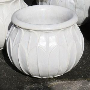 White Marble Planter