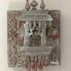 Painted Wooden Shrine Remnant
