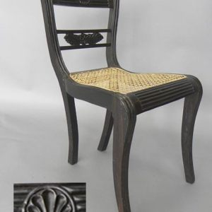 Ebony and Cane Side Chair