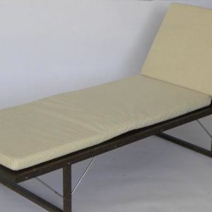 Kitul Wood And Stainless Steel Sun Bed