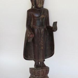 Burmese Wooden Standing Buddha
