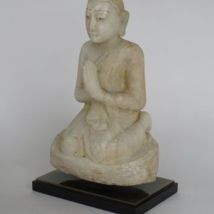 Burmese Alabaster Seated Disciple