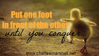 Put one foot in front of the other until you have conquered