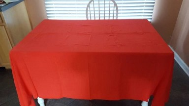 The Red Christmas Tablecloth
