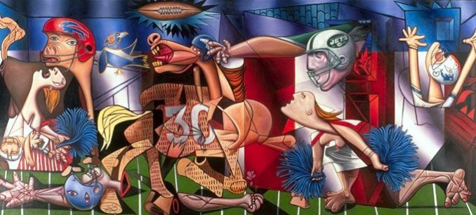 Ron English Football guernica
