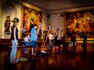 Class at the Ringling Museum.