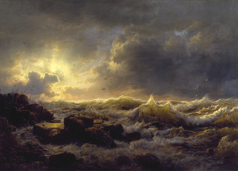 Clearing up by Andreas Achenbach