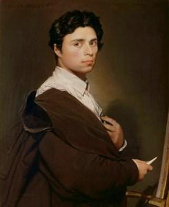 Self Portrait by Jean-Auguste-Dominique Ingres.