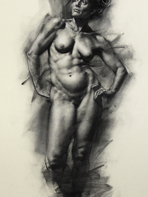 Sevasti, charcoal on paper, 18×24