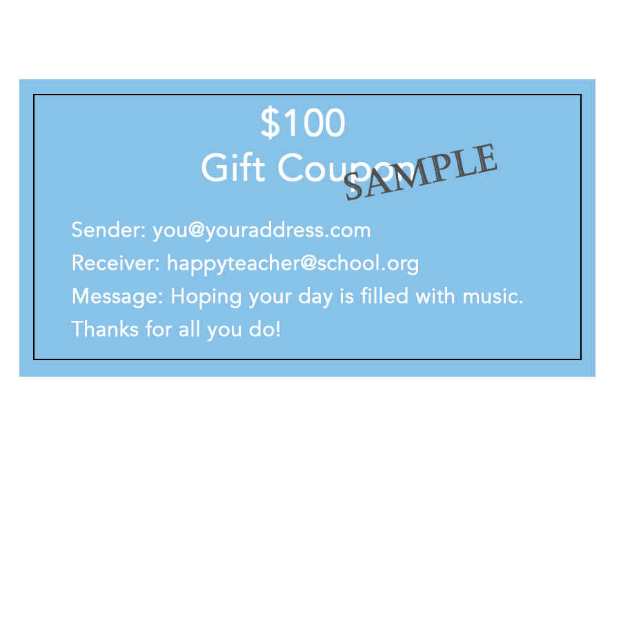 Gift Coupons Charles Double Reed Company