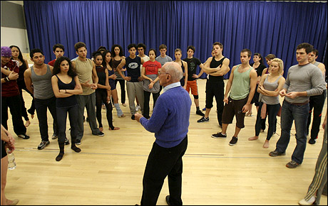 ARTHUR LAURENTS and the CAST OF 'WEST SIDE STORY'