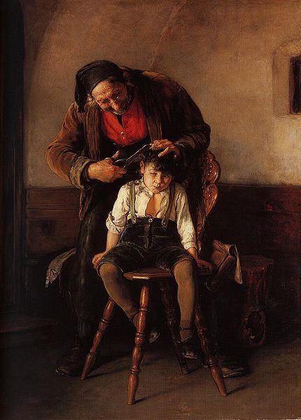 """The Barber"" by Nikolaus Gysis (1880)"