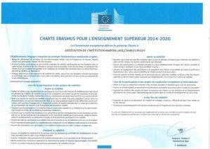 Charte Erasmus signée par le Lycée Charles Péguy à Marseille
