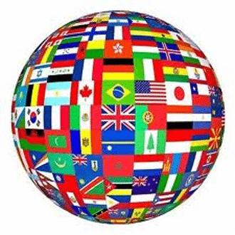 globe avec drapeaux