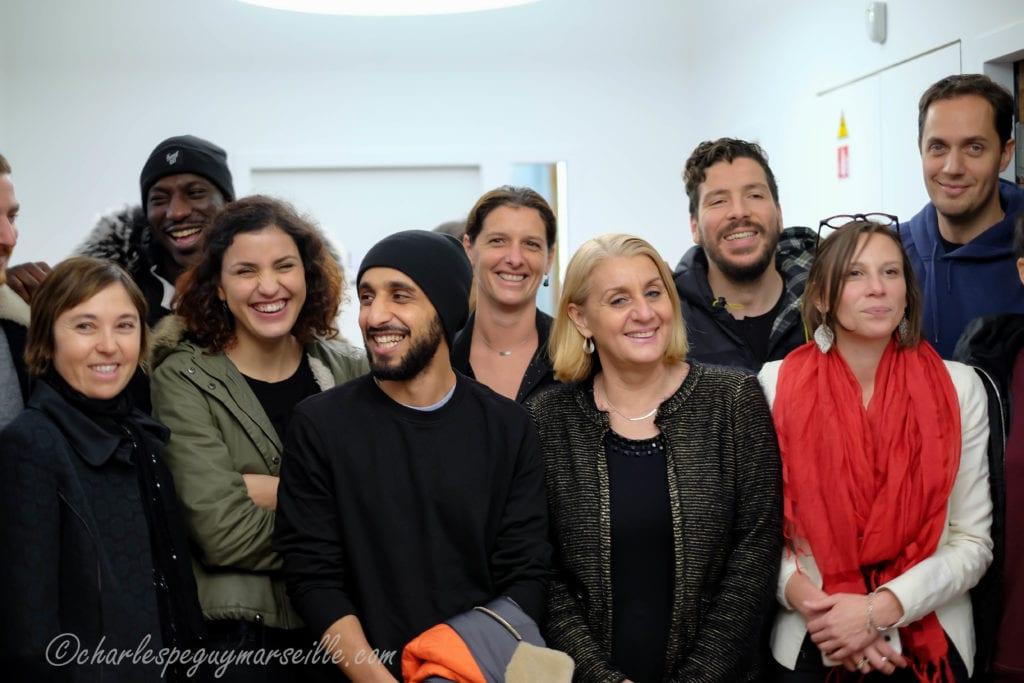 L'équipe de Patients avec l'équipe de Péguy