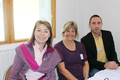 Une partie des professeurs de la section ST2S Mme GASTALDI, Mme GUERRERO et M. GUIS