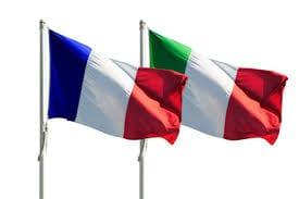 Drapeaux France Italie