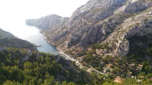 photo d'une calanque de Marseille