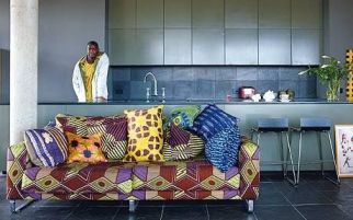 Charles Ray and Coco - blog deco et design - african wax - sofa