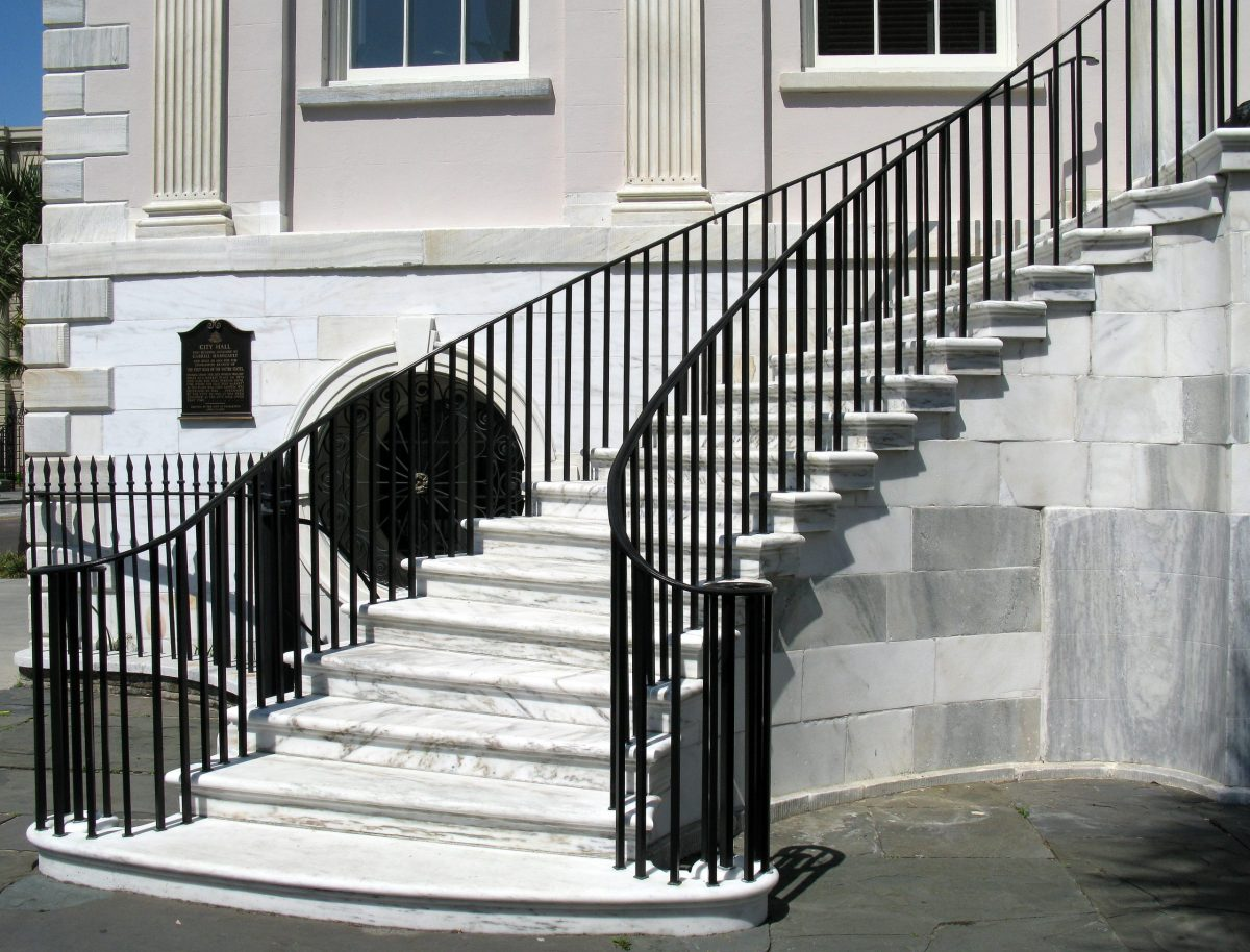 Charleston City Hall steps