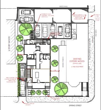 76 & 78 Spring Site Plan