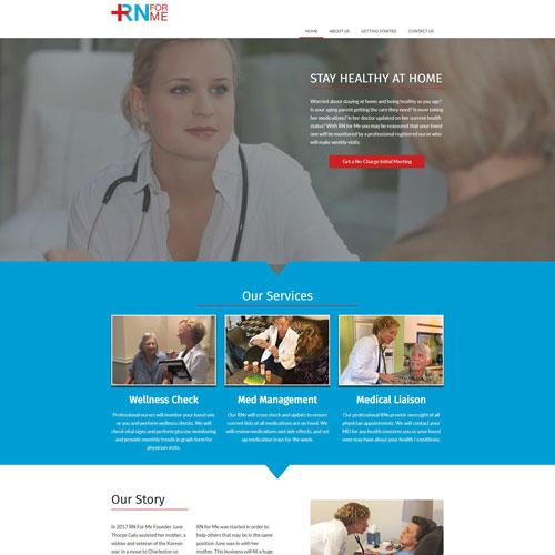RN for Me website screen capture