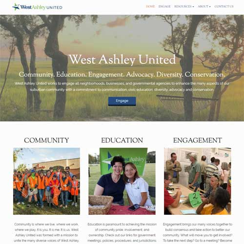 Home page of West Ashley United website