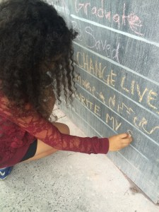 before i die wall, charleston pr girl