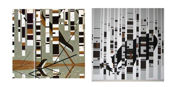 Bearin Birches & Otter | Chalie Harper Prints | For Sale