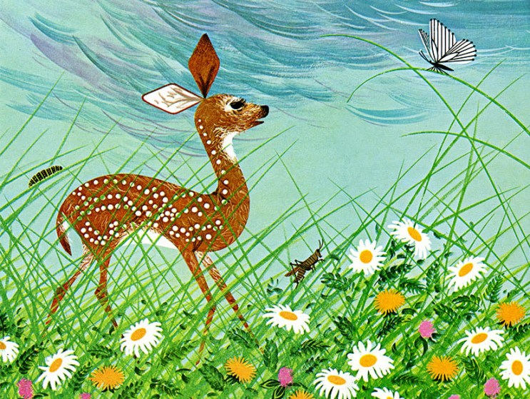 Bambi Finds The Meadows   Charley Harper Prints   For Sale