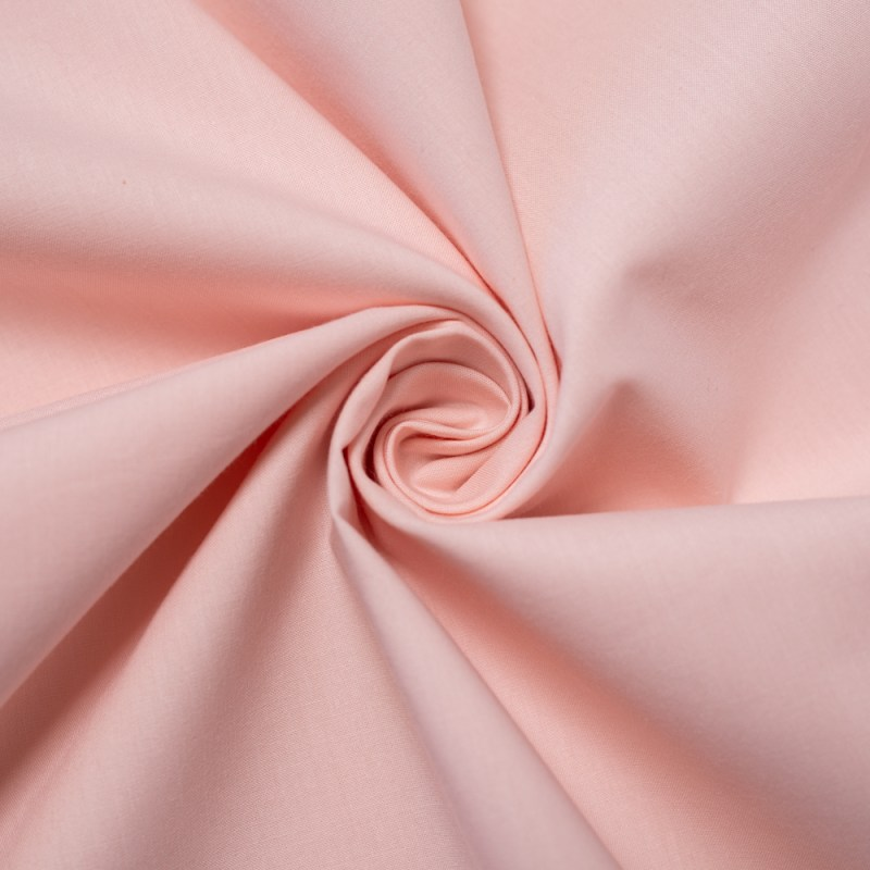 blush cotton poplin