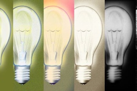progression of copied light bulb pictures