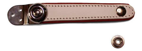 accordion bellows strap white on red