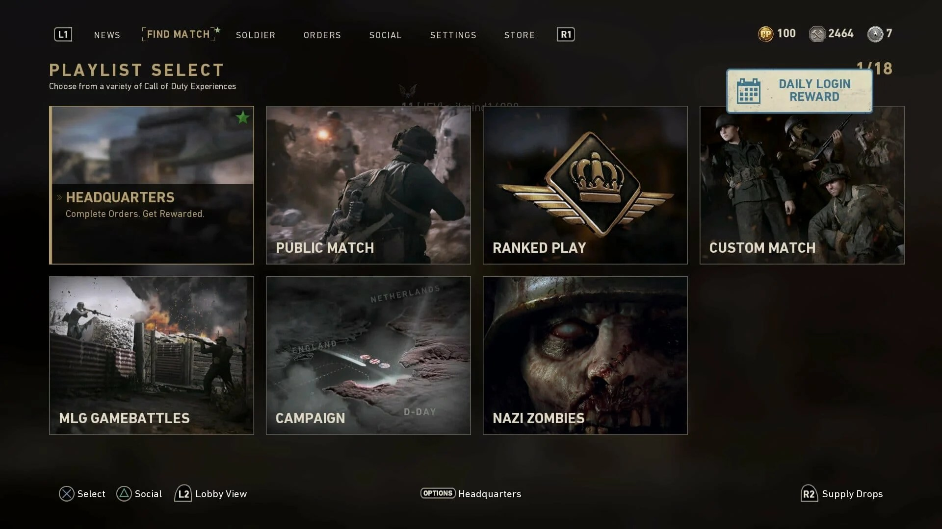 Patch Update 106 For Call Of Duty WWII Live On PS4XB1