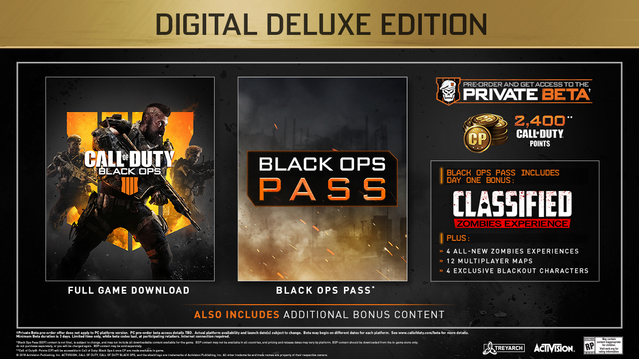 Call Of Duty Black Ops 4 Special Editions Announced