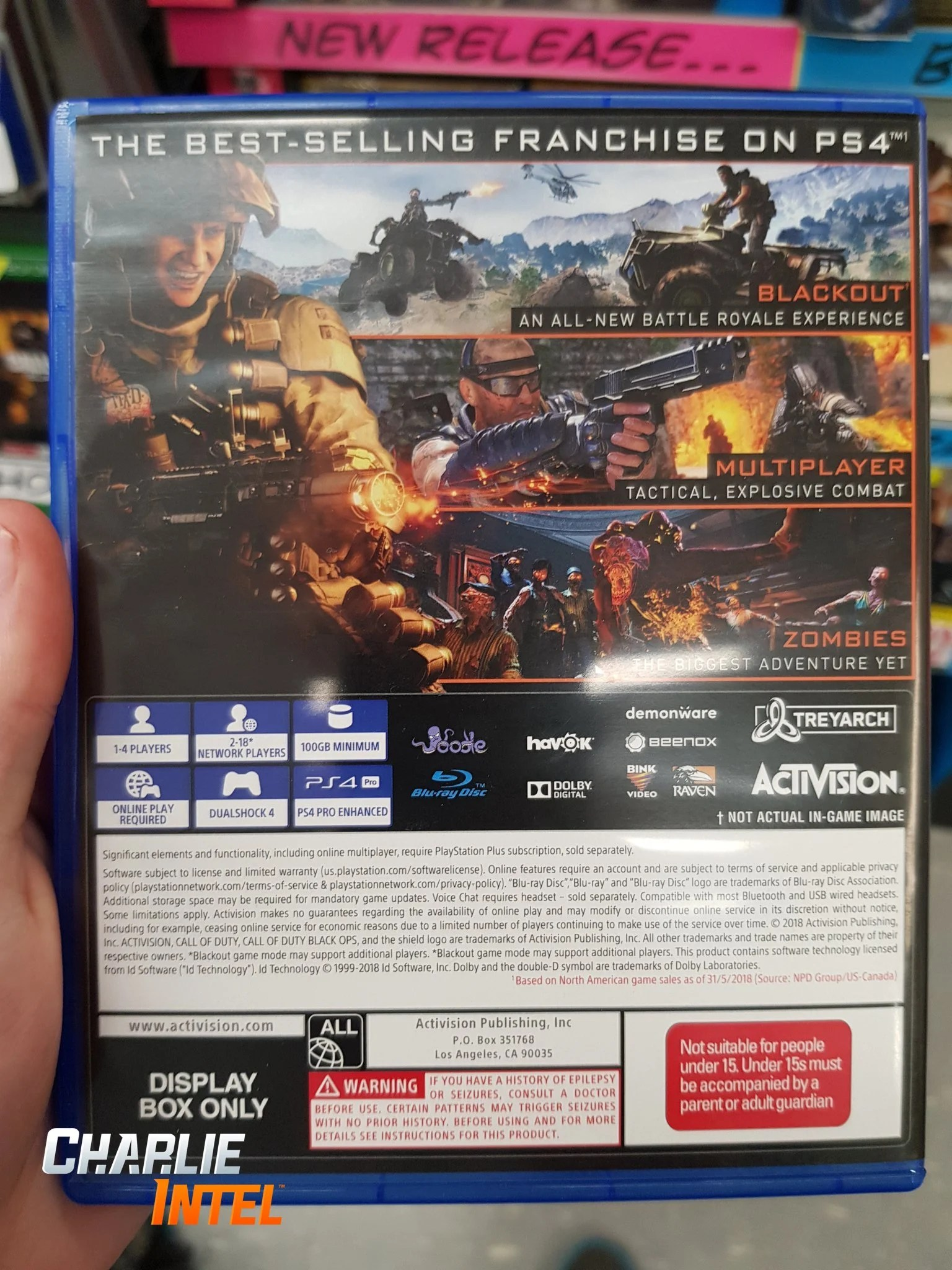 Back Cover Of Black Ops 4 Box Art Revealed Says 100GB
